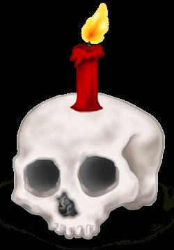 Bougie Crâne Halloween
