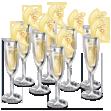 Verres Champagne Gâteau Mariage