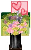 Vase Fleurs et Coeurs Piste de Danse