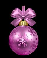 Boule violette de Noël