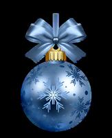 Boule bleu de Noël