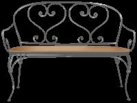 Canapé fer forgé