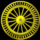Roue fond jaune