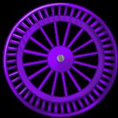 Roue fond violette