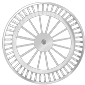 Roue fond blanche