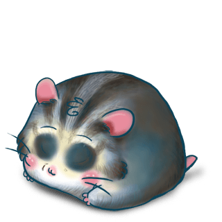 Hamster Bleu Gris