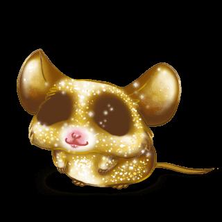 Souris Paillettes dorée