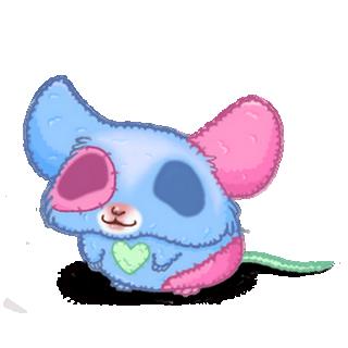 Adopte un(e) Souris Peluche bleu