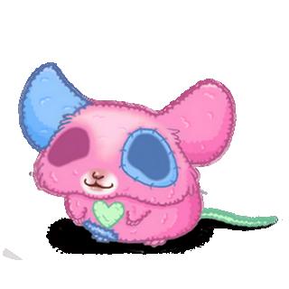 Adopte un(e) Souris Peluche rose