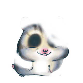 Hamster Husky Marron